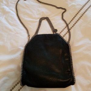 Stella mccartney style mini chain tote crossbody